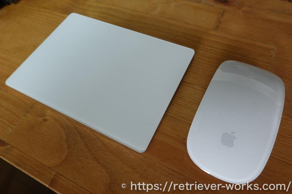 magic mouseとmagic trackpad