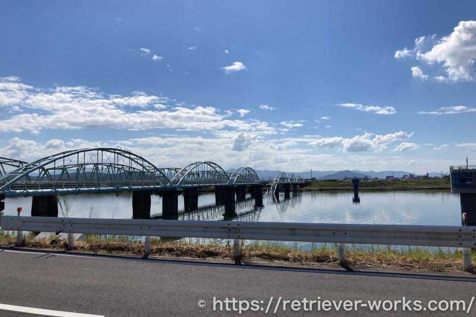 崩落した六十谷水管橋